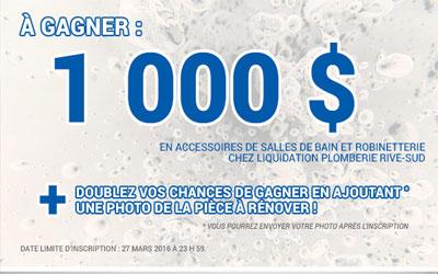 1000$ en accessoires de salles de bains - Québec Gratuit : Tout le ...