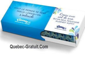 Colis Kleenex personnalisé Gratuit