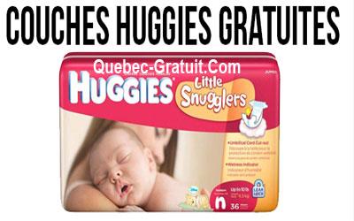 Couches Huggies Gratuites