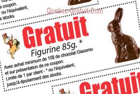 Figurine en chocolat Gratuite
