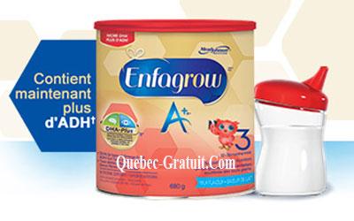 Échantillons gratuits d'Enfagrow A+
