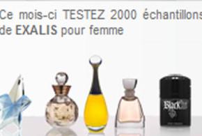 Echantillons gratuits de parfums