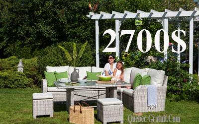 Ensemble de meubles de jardin Bella - Québec Gratuit : Tout le ...