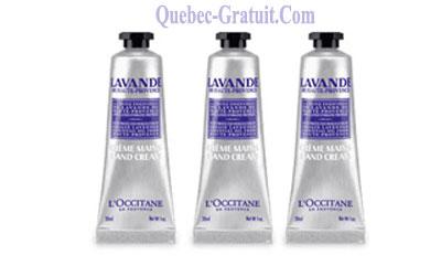 Echantillon Gratuit, Crème Mains Lavande