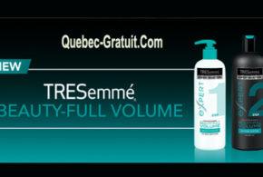 Echantillon gratuit, shampoing et conditioner TRESemmé