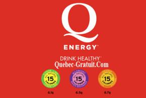 Echantillons gratuits Q Energy Drink