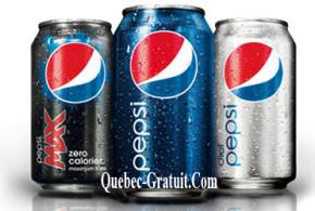 Paquet de 12 canettes de Pepsi Gratuit