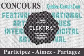 Passeports et articles à l'effigie du festival ELEKTRA