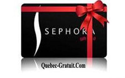Une Carte Cadeau Sephora Dune Valeur De 100 Québec