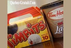 Boîte de Timbits Gratuite chez Tim Hortons