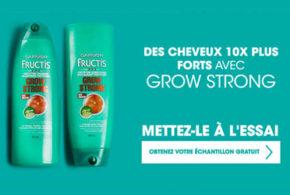 Echantillon Gratuit Fructis Grow Stronger Garnier