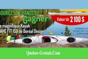 Kayak TAHE FIT 159 de Boréal Design de 2100 $