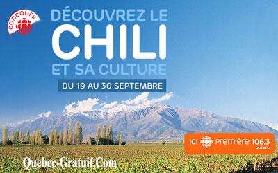Concours gagnez un Voyage à Santiago, au Chili de 7500 $