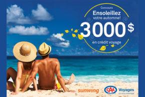 Concours gagnez 3000$ en crédit voyage