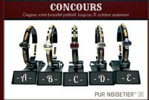 Concours gagnez 5 bracelets avec charms européens de Pur Noisetier