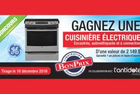 Concours gagnez une cuisinière électrique GE de 2149$