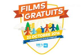 Du cinéma gratuit le 22 octobre dans les Cineplex