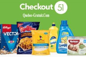 Découvrez les nouveaux rabais Checkout 51 de la semaine