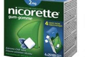 Échantillons gratuits de Nicorette