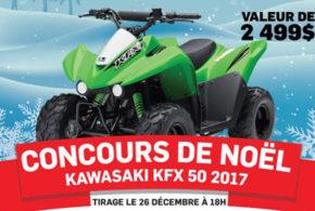 Concours gagnez un KAWASAKI KFX 50 2017
