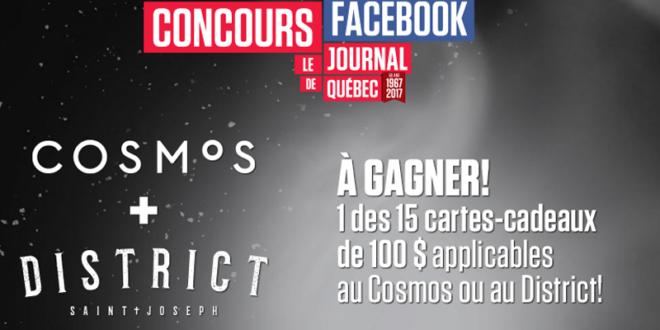 Concours gagnez 100 $ au Cosmos-District St-Joseph