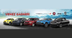 Concours gagnez un Véhicule Chrysler, Jeep, Dodge, Ram ou FIAT 2017 2018