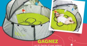Concours gagnez un lit-tente Nido Bbluv de chez Maman Autrement