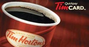Concours gagnez une Carte cadeau Tim Hortons de 50$