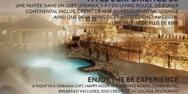 Concours gagnez une nuitée en loft Urbania de 650$