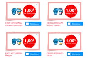 Coupons de 6,50$ sur des produits Oikos Supergrains