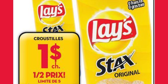 Croustilles Lay's Stax Original à 1$ seulement
