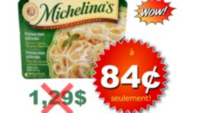 84¢ Repas surgelés Michelina's chez Maxi