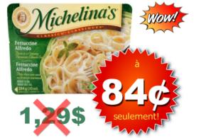 Repas surgelés Michelina's à 84¢ seulement
