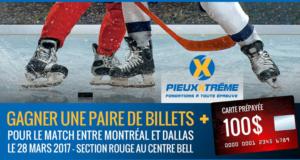 Concours gagnez une Paire de billets pour une partie de hockey au Centre Bell