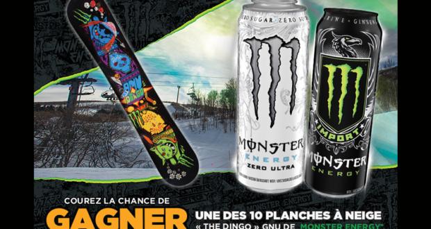 Concours gagnez une Planche à neige Monster Energy