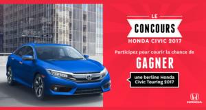 Concours gagnez une automobile berline Honda Civic Touring 2017