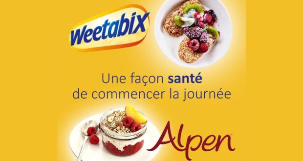 Coupon de 2$ sur les céréales Weetabix, Alpen ou GrainShop
