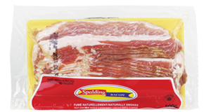 Emballage de bacon Spalding 500g à 1.99$