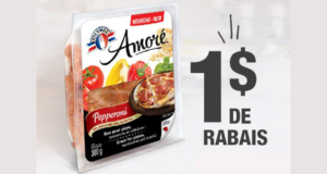 Emballage de pepperoni Olymel Amoré à 1,99$