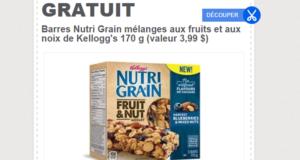 Un emballage de barres Nutri Grain Gratuit