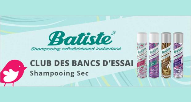 800 Shampooing sec Batiste à tester gratuitement