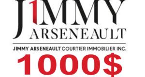 Bourse de 1000 $ offerte par Jimmy Arseneault