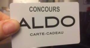 Cartes-cadeaux Aldo de 500$