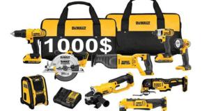 Ensemble complet d'outils Dewalt de 20V Max de 1000$