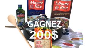 Ensemble de cadeau Minute Rice de 200$