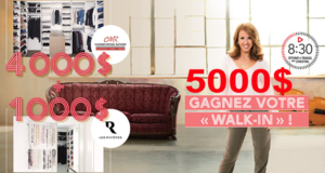 Gagnez votre walk-in de rêve de 5000 $