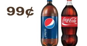 Pepsi, Coca Cola 2L à 99¢
