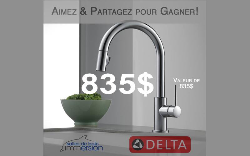 Robinet delta trinsic touch2o de 835 chantillons for Robinet delta salle de bain