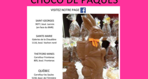 Un lapin de Pâques géant en chocolat de 2000 grammes