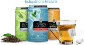 Échantillons gratuits du thé Higgins Burke